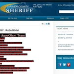 This screen grab from the Larimer County Sheriff's Office website shows a hacked news release that was displayed online Tuesday. The website was hacked again Thursday morning and was later taken down indefinitely.