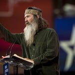 Phil Robertson addresses the American Conservative Union's 42nd annual Conservative Political Action Conference.