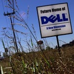 This sign along Donelson Pike announced the future home of Dell before the company built the campus years ago. Dell is closing a global service desk in Nashville, idling 96 workers.