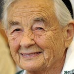"""Maria von Trapp, daughter of Austrian Baron Georg von Trapp, smiling during a press conference at the Villa Trapp July 25, 2008, in Salzburg, Austria. The last surviving member of the famous Trapp Family Singers made famous in """"The Sound of Music"""" died this week at her home in Vermont. She was 99."""