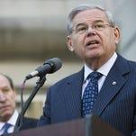 Sen. Bob Menendez speaks last Thursday in Newark.
