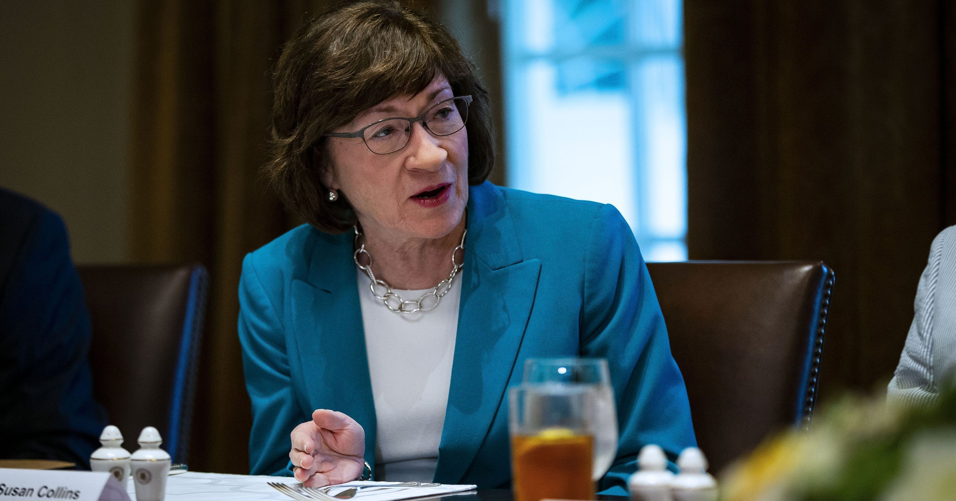 Susan Collins is targeted by abortion rights activists over court vote
