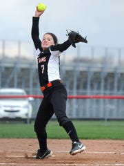 Upper Sandusky's Blayc Hacker pitches their game against