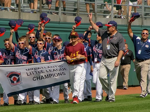 The Maine-Endwell Little League team, representing