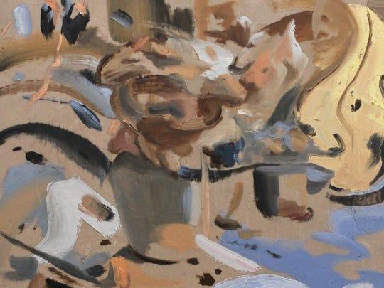 "Detail from ""haunt/haunt"" by Gregg Bautista"