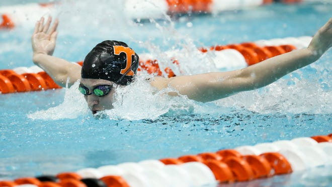 Tennessee freshman Meghan Small captured the 200 IM title at the SEC Swimming and Diving Championships in February at the Allan Jones Intercollegiate Aquatic Center.