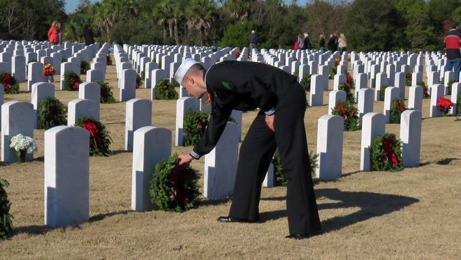 Barrancas National Cemetery was the site of the Wreaths Across America event.