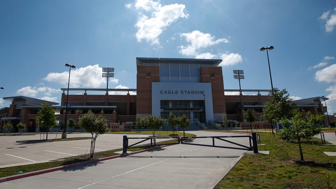 The gates outside Eagle Stadium in Allen, Texas, are expected to remain closed this season due to cracks in the two-year-old, $60 million stadium that have led it to be deemed it unsafe for occupancy.