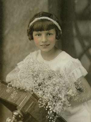 Undated communion photo of little girl