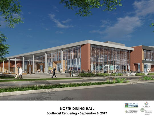 A view from McKinley Avenue of the proposed North Dining