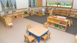 A renovated classroom  Montessori Children's Learning Center at Brookdale Community College
