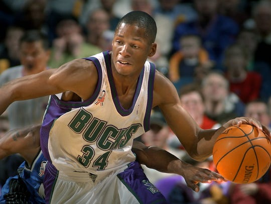 Ray Allen played for the Bucks for seven seasons.