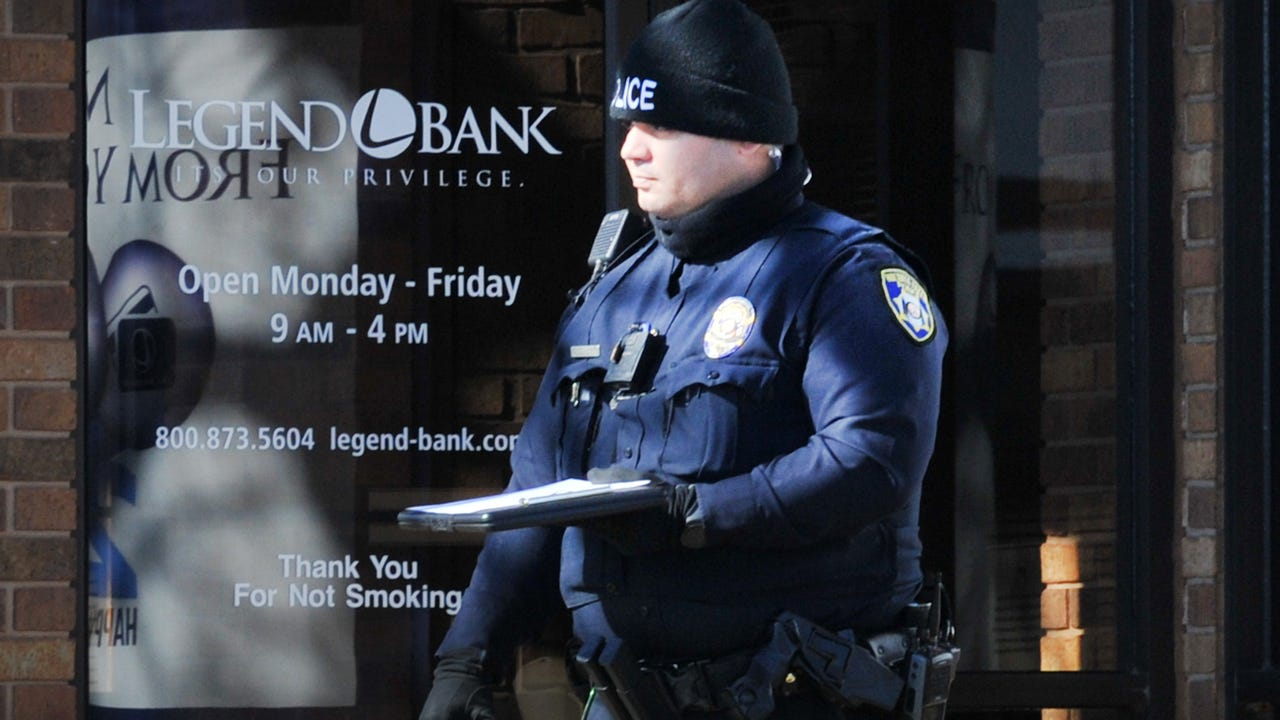 Wichita Falls police investigate a possible bank robbery at the Legend bank located in the 2600 block of Kemp Boulevard Tuesday afternoon.