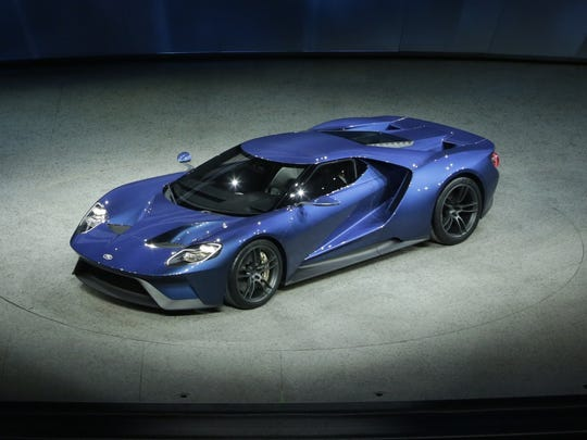 Ford introduced the 2016 Ford GT supercar during the 2015 North American International Auto Show at Cobo Center on Monday, Jan. 12, 2015 in Detroit.