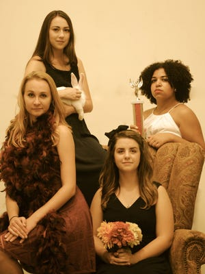 "Starring in ""The Effect of Gamma Rays on Man-in-the-Moon Marigolds"" continuing today through  Oct.11 at NMSU's ASNMSU Center for the Arts are, from left, Tiffany Tyson, Miranda Kay Elizabeth, Stephanie Vasquez Fonseca and Perigynne Cox."