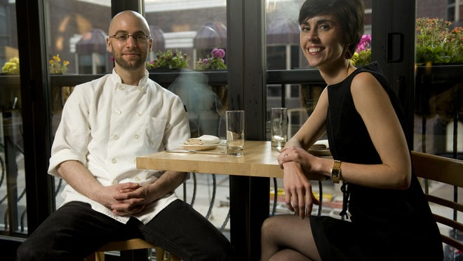 Chef/owner Greg Vernick and Julie Vernick pose for a portrait in the second floor dining area at Vernick Food & Drink on Walnut Street in Philadelphia in 2012.