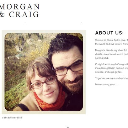 A screenshot from a website Craig Spencer and his fiancee