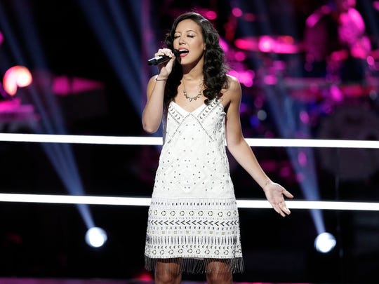 """In last week's """"Battle Rounds""""  on The Voice, Amy Vachal"""