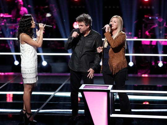 "Battling it out on ""The Voice,"" Amy Vachal of the Somerset"