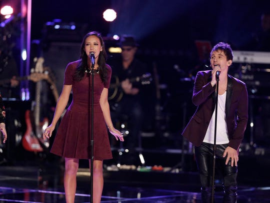 "Amy Vachal and Keith Semple perform on ""the Voice"""