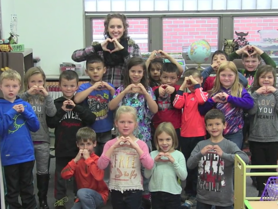 A class of students at Stratford Elementary School