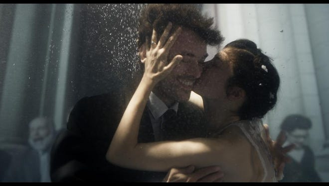 "A scene from the film ""Mood Indigo."""