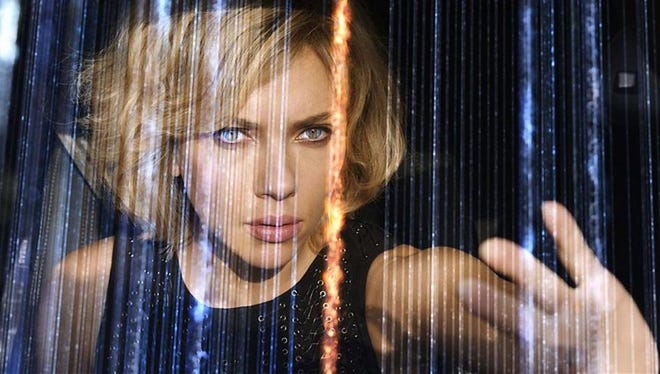 "Scarlett Johansson in the title role of the film ""Lucy."""
