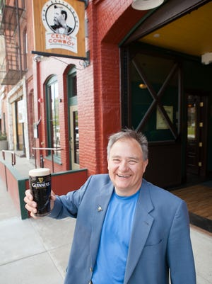 Wayne Thares stands outside the Celtic Cowboy, which recently won the North American Pub with the Best Sports Experience award.
