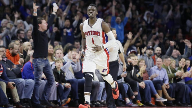 Fans react after Reggie Jackson's three-pointer in Friday night's playoff-clinching win over Washington. Jackson scored 14 of his 39 points in the fourth quarter of the 112-99 win.