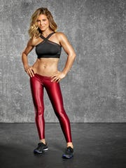 "Fitness expert Jillian Michaels on the set of ""Sweat"