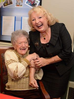 Ann LaHoff with Warren Mayor Carolann Garafola.