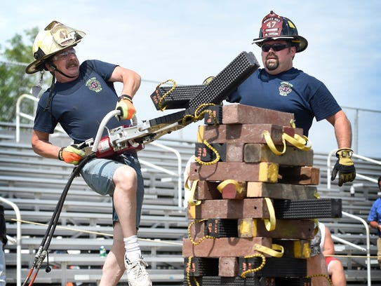 Charles Vandusen and Mark Taylor, of Bunker Hill Fire