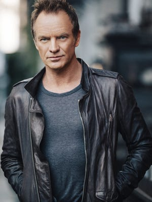 Sting, 65, will perform at The Show in Rancho Mirage in February. Tickets go on sale Saturday.
