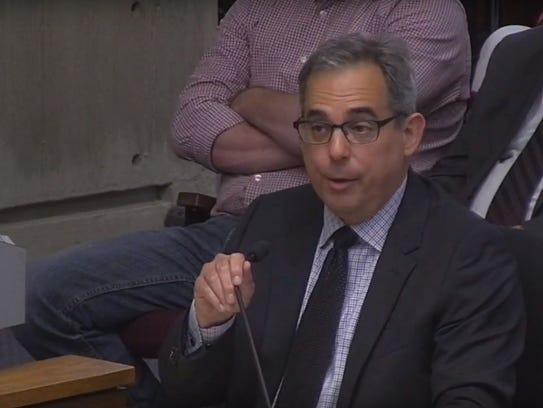 Public Works Director Peter Fernandez speaks during