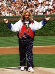 Dani Tyler, gold medal winner with the Olympic women's