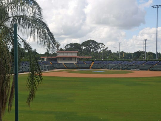 A view from the offices above the players' clubhouse