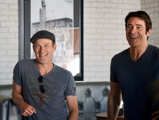 Actors Stephen Moyer (left) and Goran Višnjić were