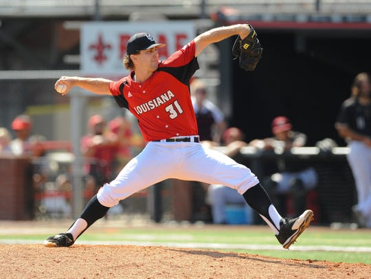 UL's Wyatt Marks closed in the ninth inning of the