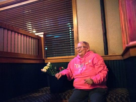 Brenda Scott, of Lexington, laughs Friday, Jan. 26,