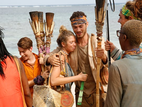"""From left are """"Survivor: Ghost Island"""" contestants"""