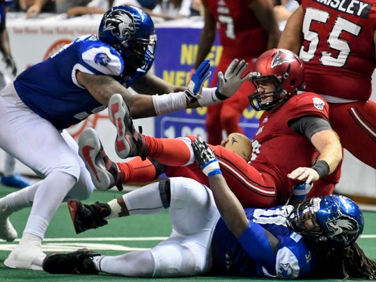 The Columbus Lions arena football team play the Jacksonville