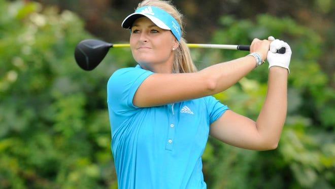 Anna Nordqvist plays during the final round of the Wegman's Championship golf tournament at Monroe Golf Club in Pittsford, N.Y., on Aug. 17, 2014. Nordqvist finished tied for sixth at the JTBC Founders Cup in Phoenix on March 22, 2015.