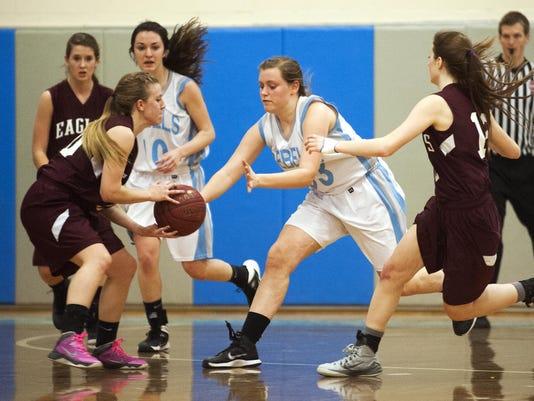 Mt. Abraham vs. South Burlington Girls Basketball 02/05/15