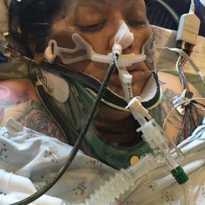 Amber Martinez is still hospitalized after a crash