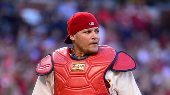 The Milwaukee Brewers are campaigning to get Cardinals catcher Yadier Molina out of office -- or, in this case, the All-Star Game.