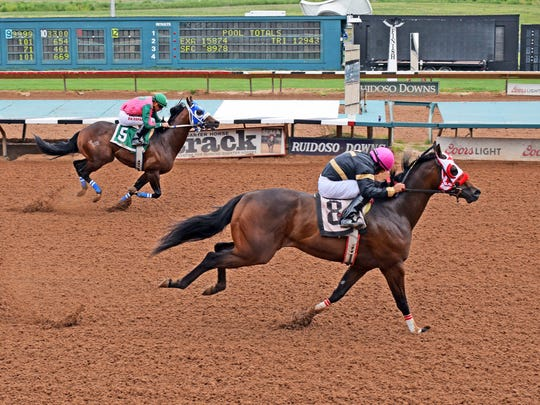 Uptown Dynasty is one of two Wes Giles trained qualifiers for next month's All American Futurity in Ruidoso.