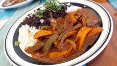 Ropa vieja with beans and rice at The Latin Kitchen