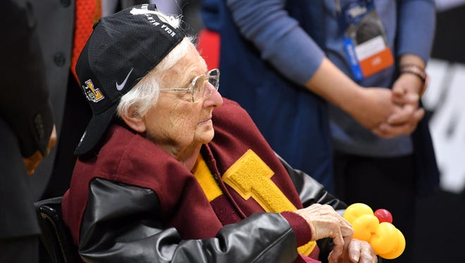 Loyola team chaplain Sister Jean Dolores-Schmidt has become a fan favorite in the NCAA tournament.