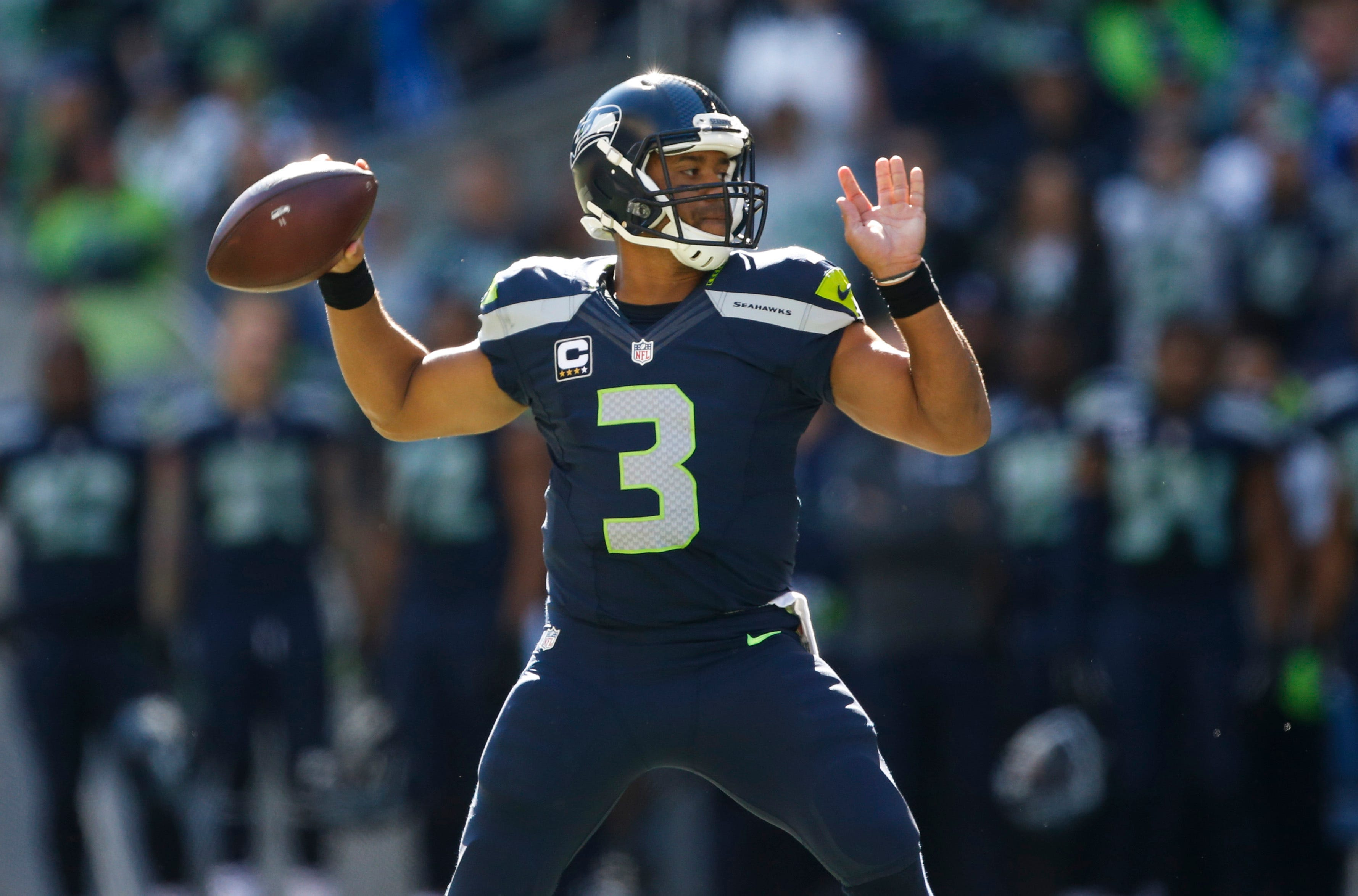 Russell Wilson's Seahawks jersey the