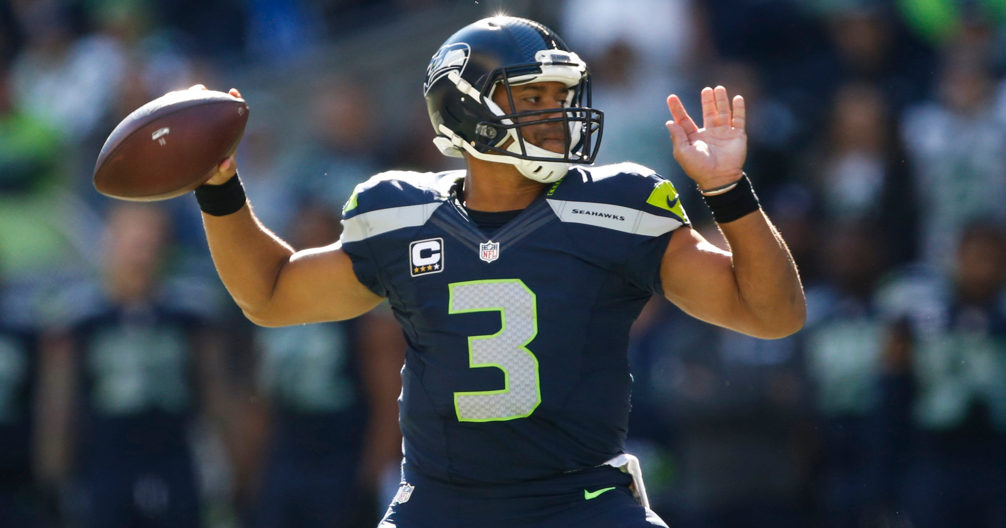 f9ce47be Russell Wilson's Seahawks jersey the hottest seller among NFL players